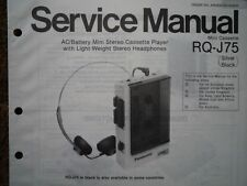 PANASONIC RQ-J75 Stereo Cassette tape Player Service manual wiring parts diagram