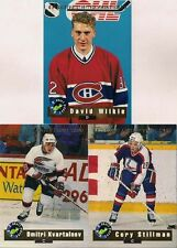 1992 CLASSIC HOCKEY DRAFT PICKS; 3 DIFFERENT INSERT CARDS