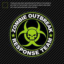 Green Zombie Outbreak Response Team Sticker Die Cut Decal hunting united states