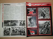 ILLUSTRIERTER MOTORSPORT 4/1981 3* Bahnsport MC Dynamo Apolda Formel Junior