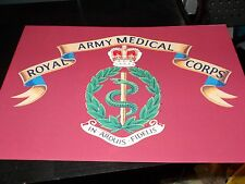 THE ROYAL ARMY MEDICAL CORPS HONOURS A4 PRINT ON CANVAS EFFECT CARD