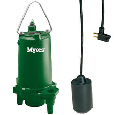 Myers MRG20-21AK - 2 HP Cast Iron Residential Grinder Pump w/ Tether Float Sw...