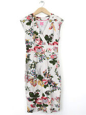 Joules Womens Silver Flower Print Dress Size 8