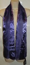 New Women's Fashion Purple Striped Silky Neck Scarf Lightweight Shawl