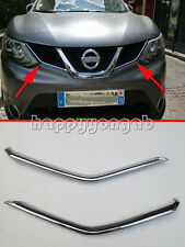 Chrome Front Upper Grille cover trim for 2014-2016 Nissan Qashqai 2015 U shape