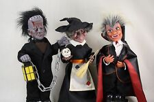 Lot of Animatronic 1980s Halloween Decorations Telco Frankenstein Witch Dracula