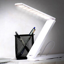 16 LED Rechargeable Table Lamp Foldable Portable Desk Lamp Reading Light White