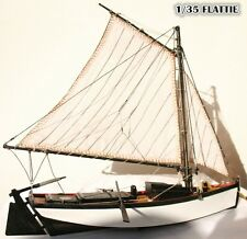 "Scale 1/35 Ancient American Fishing boat model kit the ""Flattle"" wooden ship"