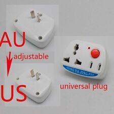 Universal UK EU AU to US/AU Plug Power AC Travel Adapter Converter on/off switch