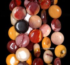 14MM DECADENCE MOOKAITE GEMSTONE YELLOW AAA FLAT ROUND CIRCLE LOOSE BEADS 15.5""