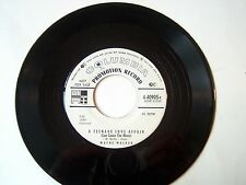 WAYNE WALKER-COLUMBIA 40905 ORIGINAL PROMO TEEN ROCK45A TEENAGE LOVE AFFAIR VG++
