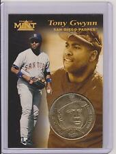 1997 PINNACLE MINT TONY GWYNN BRASS COIN & DIE-CUT CARD #21