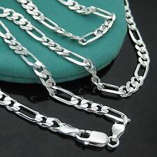 New 1PC   925 Sterling Silver 2mm Italy Figaro Necklace Chain 16""