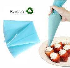 Reusable Silicone Tube Icing Piping Nozzles Bags Pastry Cake Dessert Decor Tools