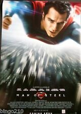 MAN OF STEEL ORIGINAL  2013 1 SHEET POSTER HENRY CAVILL SUPERMAN AMY ADAMS
