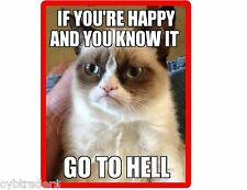 Funny Grumpy Cat Go To Hell Refrigerator Tool Box Magnet Gift Card Insert