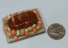 FOOD MAGNET MINIATURE ROAST BEEF HANDMADE POLYMER CLAY ARTIST DESIGN 1:12 SCALE