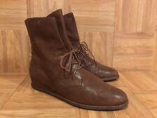 $455 Stuart Weitzman Stepmistress Hidden Wedge Ankle Boot Lace Up Gigi Hadid 7.5