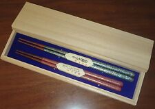 "Gift Chopsticks A pair Fuki-urushi ""night sky"" in Paulownia Box  For a couple"