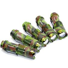 5 X CREE Q5 LED 7W 300LM Flashlight Linterna Eléctrica Zoomable Lámpara Antorcha