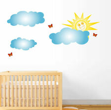 CLOUDS and SUN Wall Decal Deco Vinyl Art Sticker Mural