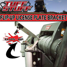 STAINLESS LICENSE PLATE BRACKET FLIP-UP WINCH ROLLER FAIRLEAD MOUNT