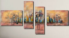 Hotel living Room Modern Abstract Art Oil painting Wall Decor Canvas (No Frame)A