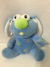 "Blue Bunny Dan Dee Collectors Choice 7"" Plush Toy Floppy Ears Green Nose 2009"
