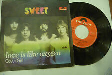 "THE SWEET""LOVE IS LIKE OXYGEN-disco 45 giri POLYDOR Italy  1978"" GLAMROCK"