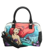Disney Loungefly The Little Mermaid Ariel Water Color Canvas Hand Bag Purse NWT!