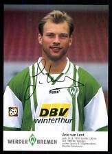 Arie van Lent Autogrammkarte Werder Bremen 1996-97 + A 100949 D