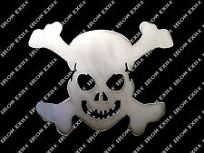 SM Skull & Cross Bones Metal Stencil Garage Art Hot Rat Rod Motorcycle Chopper