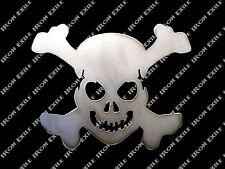 SM Skull & Cross Bones Metal Stencil Garage Art Hot Rat Rod Motorcycle Chopper
