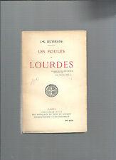 Les foules de Lourdes JK Huysmans Librairie Plon 1946 REF E35
