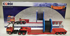 Corgi CC15604 Volvo F89 3 Axle Low Loader & industrial cable reel Robert Wynns