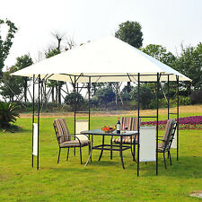 Outsunny Gazebo Outdoor Tent 10' x 10' Canopy Party Stylish Metal Patio Pavilion