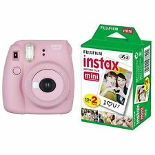 New Model: Fujifilm INSTAX Mini 8 Plus Instant Camera Pink Colour + 20 Film Set