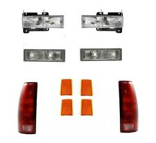88-93 Chevy Truck Headlights Parklamps Tail Lights Side Markers 92-93 Suburban