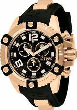 Invicta 11175 Reserve 48mm Swiss Quartz Chronograph Black Dial Rose-Gold Watch