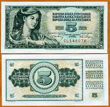 Yugoslavia, 5 Dinara, 1968, Pick 81, UNC