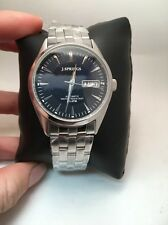 MEN'S J. SPRINGS AUTOMATIC STAINLESS STEEL BLUE DIAL ANALOG WATCH BEB026-R4