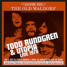 TODD RUNDGREN & UTOPIA New 2016 UNRELEASED LIVE 1978 CONCERT 2 CD SET