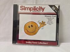 Simplicity Embroidery Designs Smiley Faces Collection Memory Card SMC17 Brother