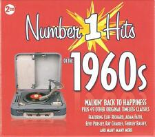 NUMBER 1 HITS OF THE 1960s - 2 CD BOX SET - WALKIN' BACK TO HAPPINESS & MORE