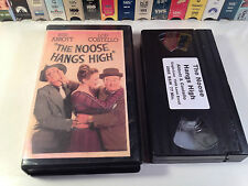 The Noose Hangs High Rare Classic Comedy VHS 1948 OOP HTF Abbott & Costello