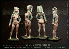 """Medieval witch III"" 75mm 1 Figur El Viejo Dragon Miniaturas Pin Pup AS75.29"
