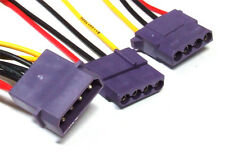 60cm 4-Pin Molex Male to 2x Female Violet Connector Power Supply Cable / Kabel