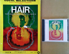 HAIR - ORIGINAL BROADWAY CAST - RCA CD +  64 PAGE SONGBOOK - ONE LOT