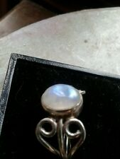 sterling silver moonstone ring size q.