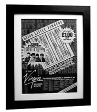 STIFF LITTLE FINGERS+SLF+PUNK POSTER AD+1980+FRAMED+ORIGINAL+FAST GLOBAL SHIP 2